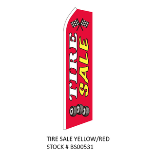 Swooper Flags Tire Sale Yellow/Red